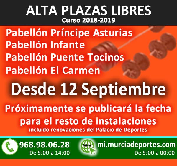 Alta Plazas Libres