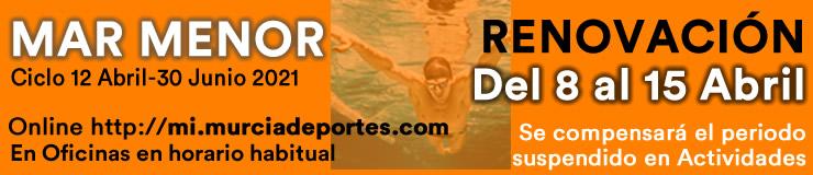 RENOVACION MAR MENOR actividades deportivas municipales